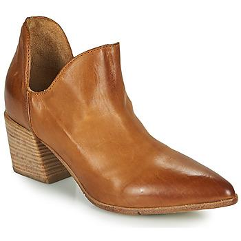 Schuhe Damen Ankle Boots Moma OSTUMI Braun,