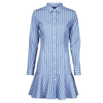 Kleidung Damen Kurze Kleider Lauren Ralph Lauren TRIELLA Blau / Weiß