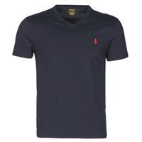 Vêtements Homme T-shirts manches courtes Polo Ralph Lauren T-SHIRT AJUSTE COL V EN COTON LOGO PONY PLAYER