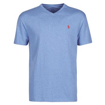 Abbigliamento Uomo T-shirt maniche corte Polo Ralph Lauren T-SHIRT AJUSTE COL V EN COTON LOGO PONY PLAYER