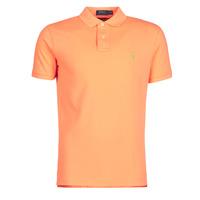 Kleidung Herren Polohemden Polo Ralph Lauren POLO AJUSTE DROIT EN COTON BASIC MESH LOGO PONY PLAYER Orange