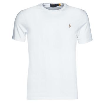 Vêtements Homme T-shirts manches courtes Polo Ralph Lauren T-SHIRT AJUSTE COL ROND EN PIMA COTON LOGO PONY PLAYER MULTICOLO