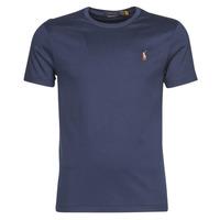 Abbigliamento Uomo T-shirt maniche corte Polo Ralph Lauren T-SHIRT AJUSTE COL ROND EN PIMA COTON LOGO PONY PLAYER MULTICOLO