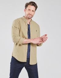 Vêtements Homme Chemises manches longues Polo Ralph Lauren CHEMISE CINTREE SLIM FIT EN OXFORD LEGER TYPE CHINO COL BOUTONNE
