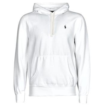 Kleidung Herren Sweatshirts Polo Ralph Lauren SWEAT A CAPUCHE MOLTONE EN COTON LOGO PONY PLAYER Weiß