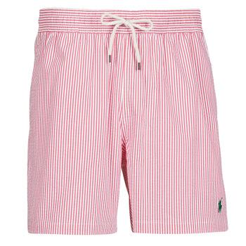 Abbigliamento Uomo Costume / Bermuda da spiaggia Polo Ralph Lauren MAILLOT SHORT DE BAIN RAYE SEERSUCKER CORDON DE SERRAGE ET POCHE