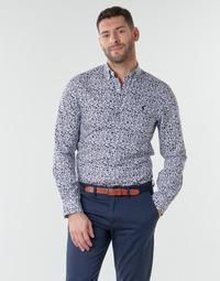 Vêtements Homme Chemises manches longues Polo Ralph Lauren CHEMISE CINTREE SLIM FIT EN POPLINE DE COTON COL BOUTONNE LOGO P