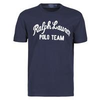 Vêtements Homme T-shirts manches courtes Polo Ralph Lauren T-SHIRT COL ROND EN COTON AVEC POLO RALPH LAUREN SIGNATURE