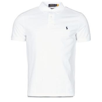 Kleidung Herren Polohemden Polo Ralph Lauren POLO AJUSTE DROIT EN COTON BASIC MESH LOGO PONY PLAYER Weiß