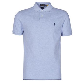 Kleidung Herren Polohemden Polo Ralph Lauren POLO AJUSTE DROIT EN COTON BASIC MESH LOGO PONY PLAYER Blau