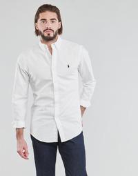Abbigliamento Uomo Camicie maniche lunghe Polo Ralph Lauren CHEMISE CINTREE SLIM FIT EN OXFORD LEGER TYPE CHINO COL BOUTONNE