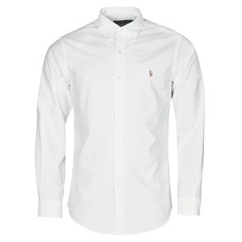 Abbigliamento Uomo Camicie maniche lunghe Polo Ralph Lauren CHEMISE AJUSTEE EN OXFORD COL BOUTONNE  LOGO PONY PLAYER MULTICO