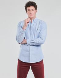 Vêtements Homme Chemises manches longues Polo Ralph Lauren CHEMISE AJUSTEE EN OXFORD COL BOUTONNE  LOGO PONY PLAYER MULTICO