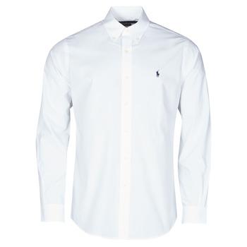 Vêtements Homme Chemises manches longues Polo Ralph Lauren CHEMISE AJUSTEE EN POPLINE DE COTON COL BOUTONNE  LOGO PONY PLAY