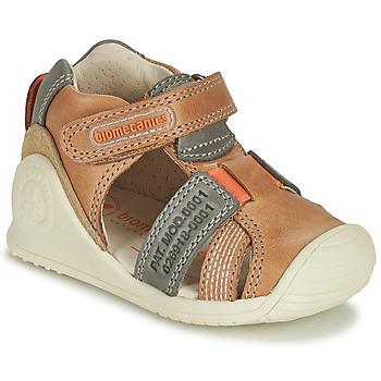 Schuhe Jungen Sandalen / Sandaletten Biomecanics 212135 Kognac