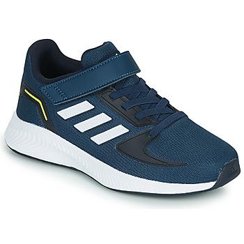 Schuhe Kinder Sneaker Low adidas Performance RUNFALCON 2.0 C Marineblau / Weiß