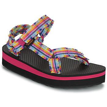 Schuhe Mädchen Sandalen / Sandaletten Teva C MIDFORM FRAY Bunt