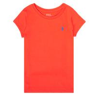 Kleidung Mädchen T-Shirts Polo Ralph Lauren SIDONIE Rot