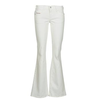 Kleidung Damen Bootcut Jeans Diesel D-EBBEY Weiß