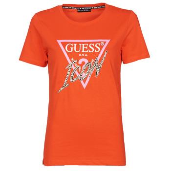 Abbigliamento Donna T-shirt maniche corte Guess SS CN ICON TEE