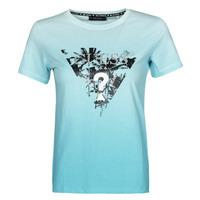Vêtements Femme T-shirts manches courtes Guess SS CN PALMS TEE