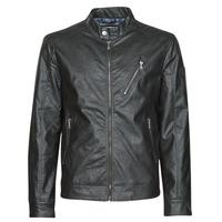 Vêtements Homme Vestes en cuir / synthétiques Guess ECO LEATER VINTAGE BIKER