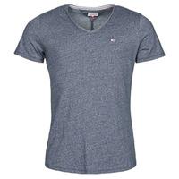 Kleidung Herren T-Shirts Tommy Jeans TJM SLIM JASPE V NECK Marineblau