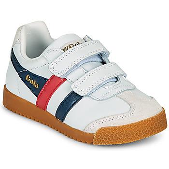 Schuhe Kinder Sneaker Low Gola HARRIER LEATHER VELCRO