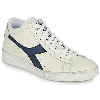 Schuhe Sneaker High Diadora GAME L WAXED ROW CUT Weiß / Blau