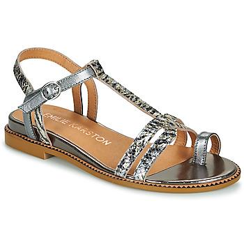 Schuhe Damen Sandalen / Sandaletten Karston SOREN Silber