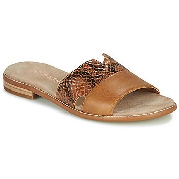 Schuhe Damen Pantoffel Karston XAPLINA Braun,