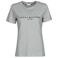 Vêtements Femme T-shirts manches courtes Tommy Hilfiger TH ESS HILFIGER C-NK REG TEE SS