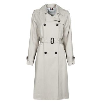 Abbigliamento Donna Trench Tommy Hilfiger DB LYOCELL FLUID TRENCH