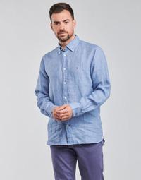 Vêtements Homme Chemises manches longues Tommy Hilfiger PIGMENT DYED LINEN SHIRT