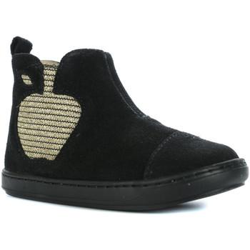 Chaussures Fille Baskets montantes Shoo Pom Bouba Apple Velours Noir