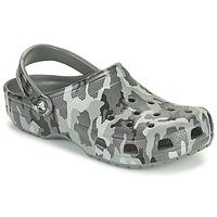 Schuhe Herren Pantoletten / Clogs Crocs CLASSIC PRINTED CAMO CLOG Tarnmuster / Grau