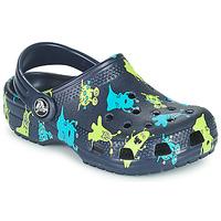 Schuhe Jungen Pantoletten / Clogs Crocs CLASSIC MONSTER PRINT CLOG T Blau