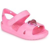 Schuhe Mädchen Sandalen / Sandaletten Crocs CLASSICCROSSSTRAPCHARMSANDAL T