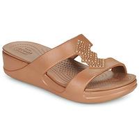 Schuhe Damen Pantoffel Crocs CROCSMONTEREYSHIMMERSLPONWDG W Bronze