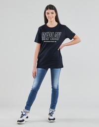 Kleidung Damen Röhrenjeans Replay HYPERFLEX LUZ Blau