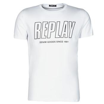 Kleidung Herren T-Shirts Replay M3395-2660 Weiß