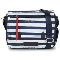 Taschen Damen Umhängetaschen LANCASTER BASIC SPORT 25 Marineblau / Weiß