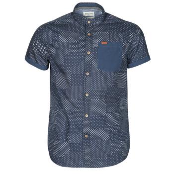 Kleidung Herren Kurzärmelige Hemden Deeluxe ETHNIC Marineblau