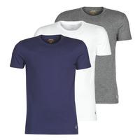 Kleidung Herren T-Shirts Polo Ralph Lauren SS CREW NECK X3 Marineblau / Grau / Weiß