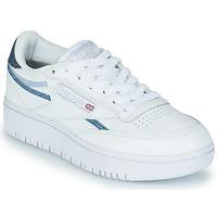 Schuhe Damen Sneaker Low Reebok Classic CLUB C DOUBLE Weiß / Blau