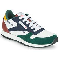 Schuhe Kinder Sneaker Low Reebok Classic CL LTHR Weiß / Blau