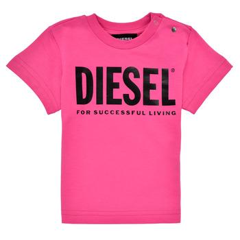 Vêtements Fille T-shirts manches courtes Diesel TJUSTLOGOB