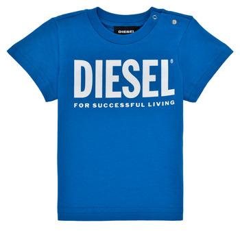 Vêtements Garçon T-shirts manches courtes Diesel TJUSTLOGOB