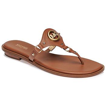 Schuhe Damen Zehensandalen MICHAEL Michael Kors CONWAY SANDAL Kognac