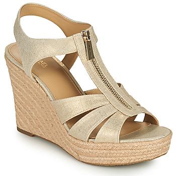 Schuhe Damen Sandalen / Sandaletten MICHAEL Michael Kors BERKLEY WEDGE Golden